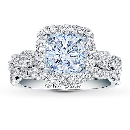 Neil Lane Bridal Setting 34 ct tw Diamonds 14K White Gold Jared